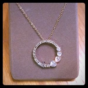 Nolan Miller Circle of Heart Pendant w/18 In Chain